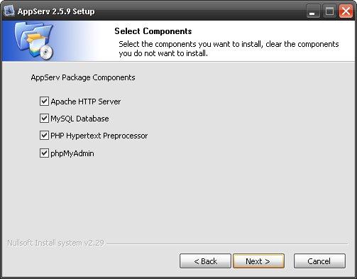 نصب وردپرس روی لوکال هاست با نرم افزار AppServ